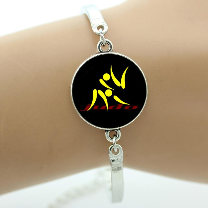 New 2017 vintage I Love Judo bracelet fashion judo black belt charms karate sports lovers men women bracelets jewlery SP575