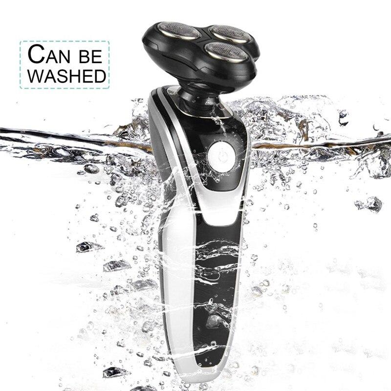 Электрическая бритва 5 в 1 4D 3 лезвия, Мужская электрическая бритва, водонепроницаемая вращающаяся машинка для стрижки бороды, многофункцион...
