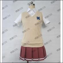 HOT Anime Zankyou no Teroru Cosplay Hermosa Risa Cosplay Japón Escuela Mishima JK Uniforme Traje de Ropa para Mujer