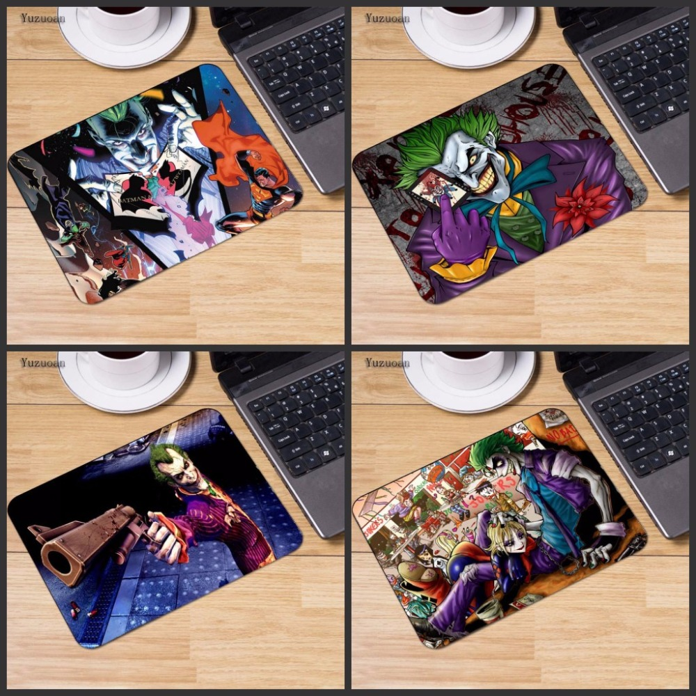 Yuzuoan Batman Joker Animal Mousepad Computer PC Loptop Optical Gaming Mice Mat Rubber Mouse Pad 220X180X2MM Or 250x290mm