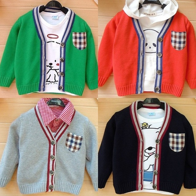 2016 autumn child male child sweater outerwear girls clothing cotton thread baby cardigan sweater