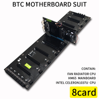 620*170mm 8 Cards BTC Computer Motherboard For Inter HM65 ATX DDR3 Professional mainboard 8 PCI E Slots Mining Motherboard