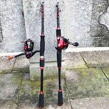 1.8 3m carbone ultraléger dur court filature canne à pêche calmar appât coulée leurre canne bateau bâton de roche télescopique pôle pour carpe
