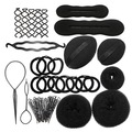 9 In 1 Pro Hair Bun Clip Maker Pads Hairpins Roller Braid Twist Sponge Styling Accessories Tools Kit Set