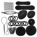 9 In 1 Pro Hair Bun Clip Maker Pads Hairpins Roller Braid Twist Sponge Styling Accessories Tools Kit Set