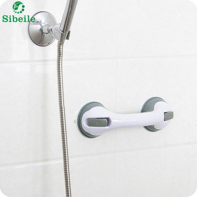 SBLE Suction Cup Tub Bath Bathroom Shower Grab Bar Handle Bathroom ...
