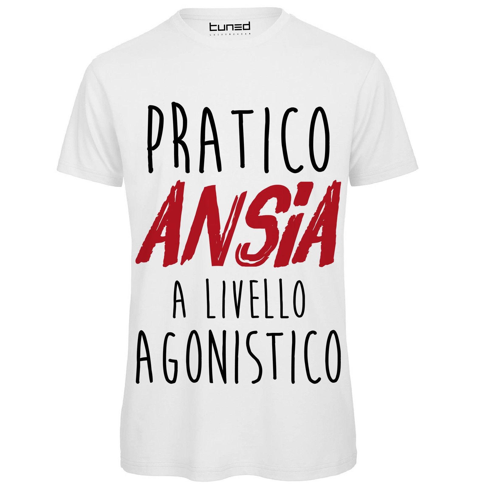 T-shirt Divertente Uomo Maglietta Cotone Con Stampa Frasi Ironiche Pratico Ansia Uomini Casual Manica Corta T Shirt