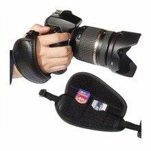Alça Da Câmera de Couro genuíno Cinto de Aperto de Mão Alça de Pulso para Nikon D810 D800 D700 D5 D90 D3200 D3300 DSLR Camera acessórios