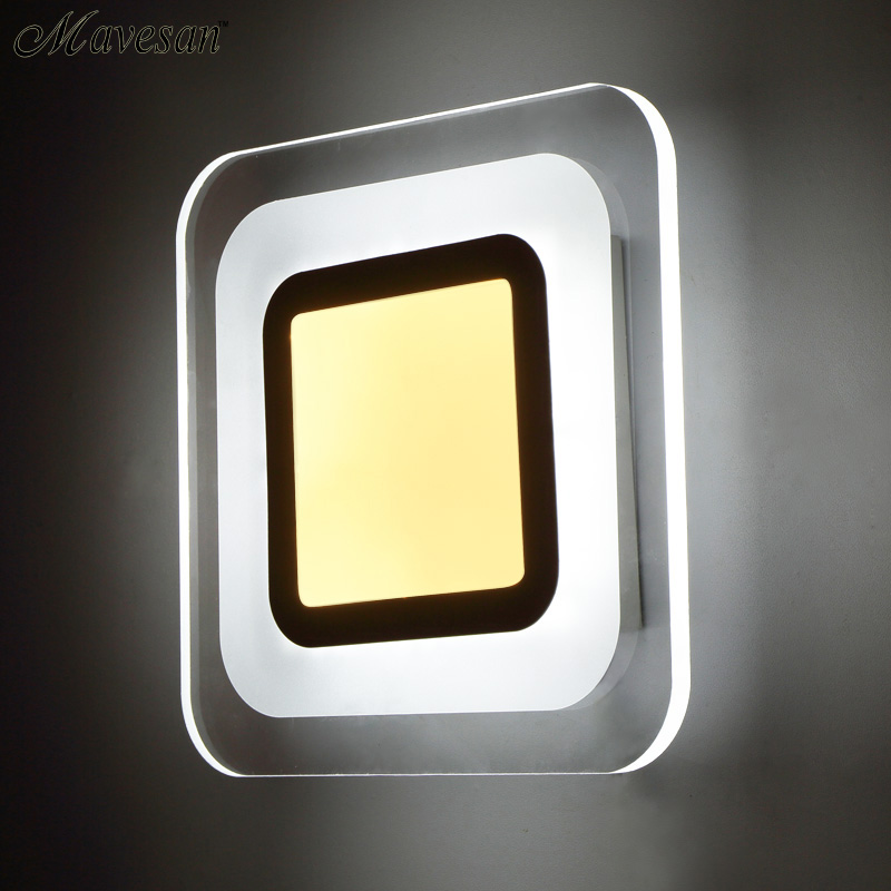 ФОТО New clear glass Modern led indoor wall lighting For Bedroom 8W Wall Sconce  AC220V LED Wall Light Indoor Lighting