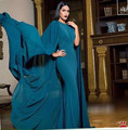 2017 New Fashion Middle East Style Arabic Muslim Simple Mermaid Maix Evening Gown Watteau Evening Dress Kadisua 1228