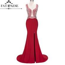 Fatapaeses вечернее платье русалки с настоящими изображениями