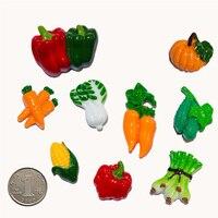 13Pcs Set Fridge Magnet Notepad Organic Vegetable Chili Refrigerator Magnets Massage Sticker Resin Refrigerator Sticker Decor