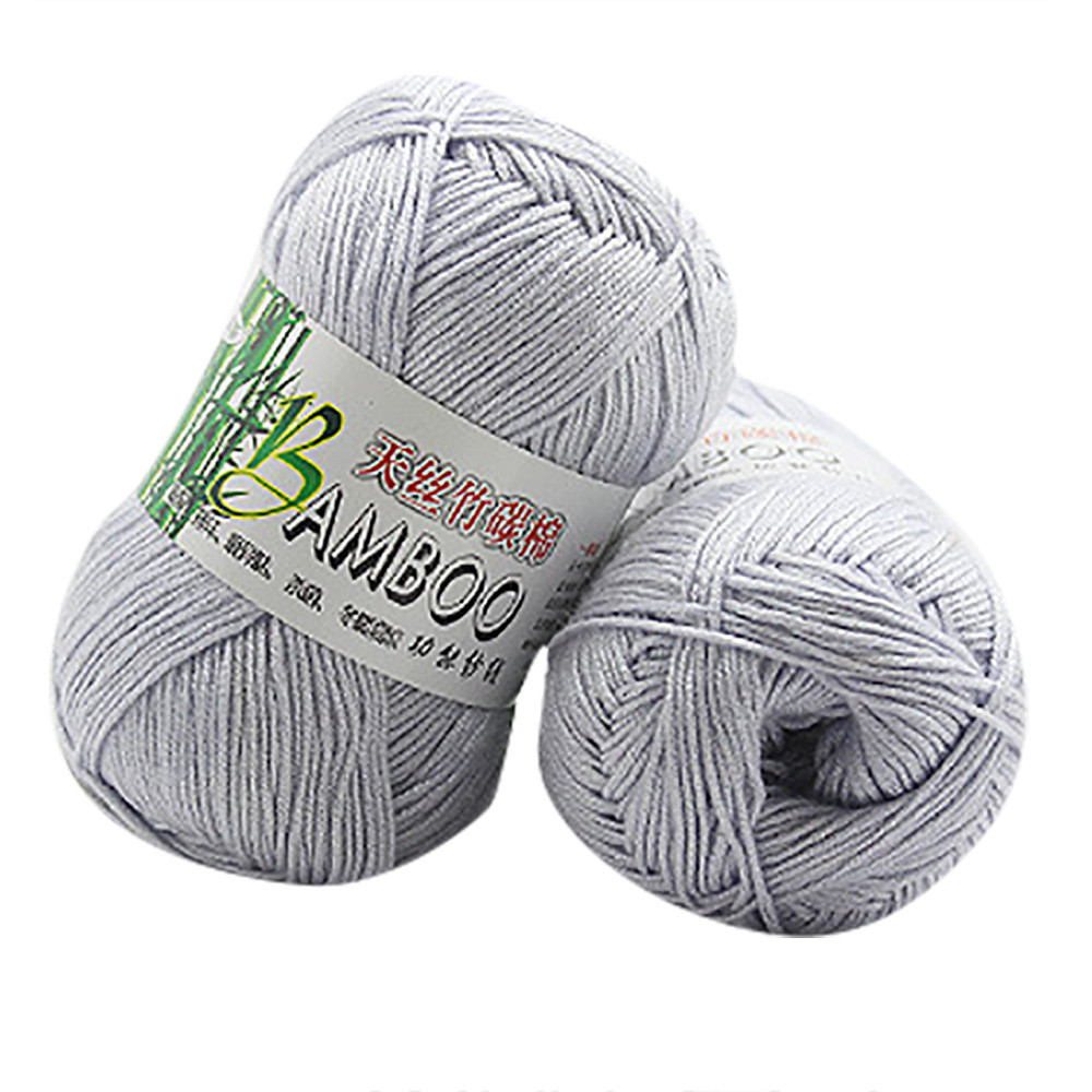 New Bamboo Fiber Cotton Blended Yarn Warm And Soft Natural Knit Crochet Hand-crocheted Bamboo Cotton Yarn Home Textiles #10