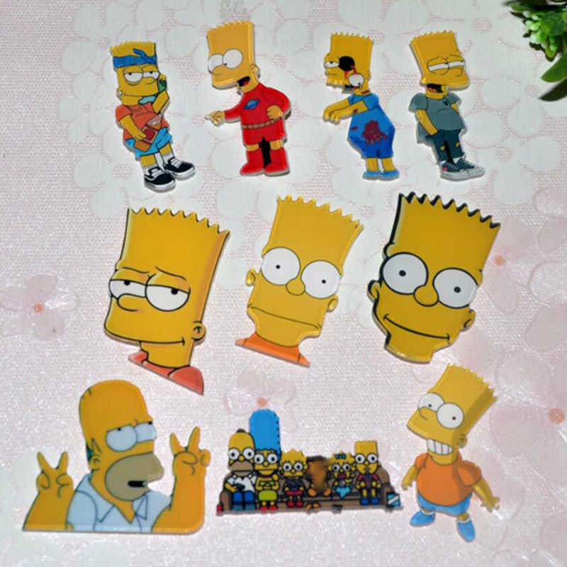 1 PC Acrylic Bros Kartun Anime Lucu Simpson Pakaian Bros Pins Bros Ransel Mahasiswa Tas Dekorasi Bros Badge Crosses