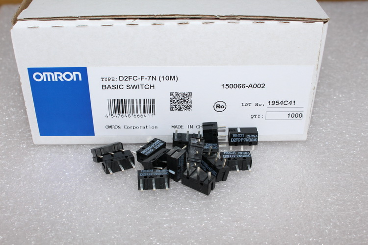 10pcs/pack 100% Original Omron Mouse Micro Switch D2FC-F-7N (10M) For Logitech G9 G9X G500 Microsoft Dedicated Button And Others