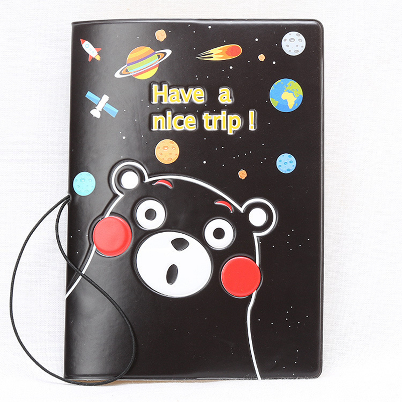 Cartoon Rilakkuma Passport Cover Cute Wallets Bag Travel Accessories PU Leather ID Address Holder Portable Boarding Card Case
