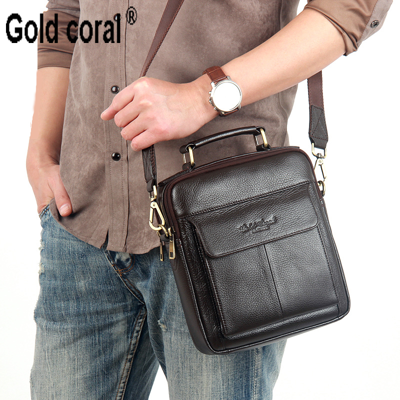 Hot sale New messenger bags for men High quality Natural genuine leather handbags business casual shoulder Bags 2016 new fashion