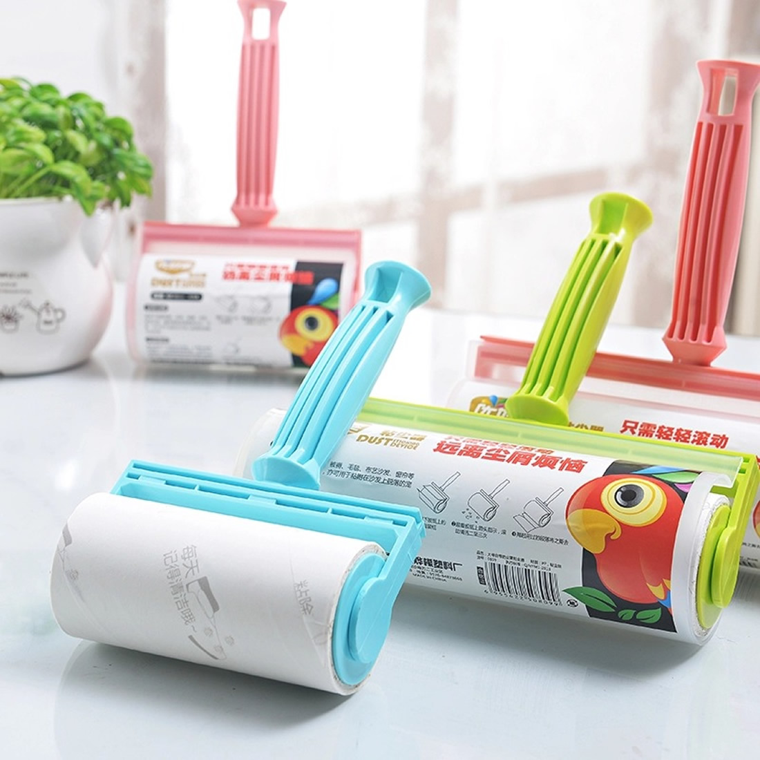 Hot Sale Clothing Lint Rollers Cleaning Sweater Sticky Hair Remover Brush Washable Carpet Bed Sheet Dust Brush Cleaning Tools