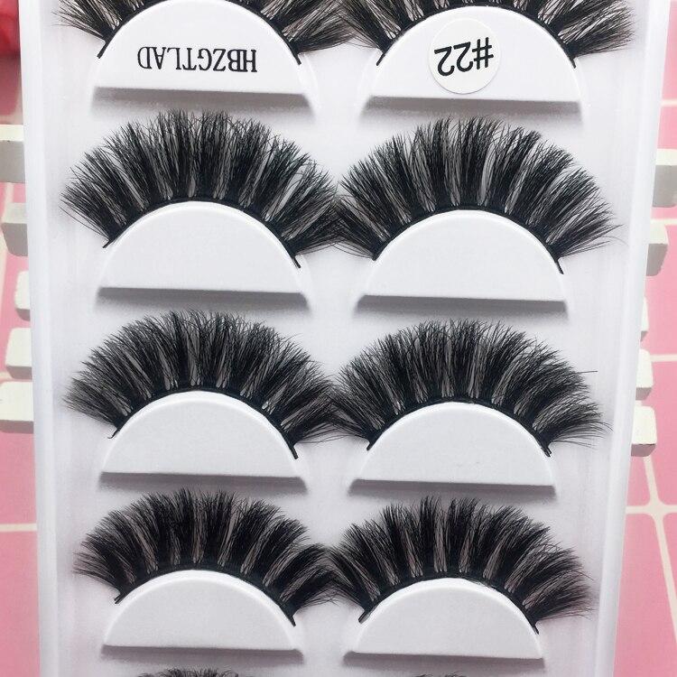 Image 4 - 5pairs/1box thick false eyelashes black long 3d mink eyelashes eyelash extension professional mink lashes makeup eye lashes G800-in False Eyelashes from Beauty & Health