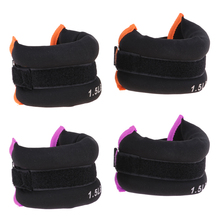 цена на Pair Ankle Wrist Weights Resistance Strength Running Training Aids Trainer Sand Filling Weight Straps Brace - 1.5 lb & 1 lb