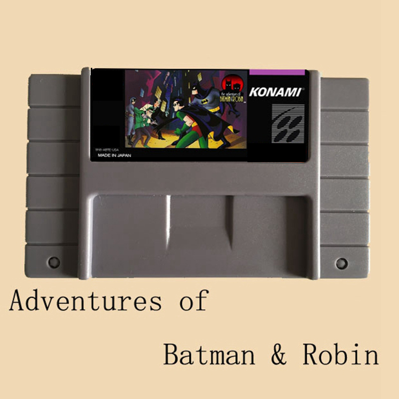 Adventures of Batman Robin 16 bit Big Gray Game Card For NTSC/PAL Game Player