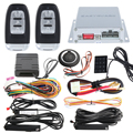 Sistema de alarme de carro PKE Universal auto smart start impulso de partida do motor, toque de entrada de senha de backup código hopping & módulo de bypass