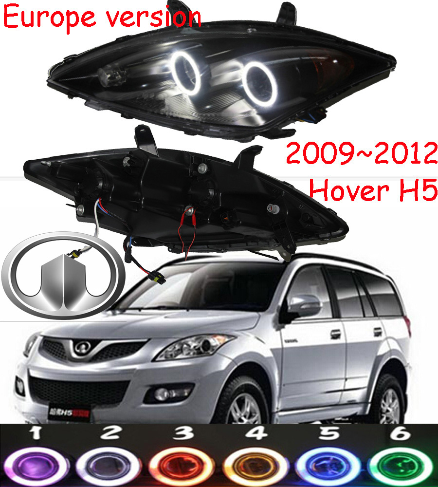 Europe version,Hover H5 headlight,2009~2012,H5,Fit for LHD,,Free ship! Hover H5 fog light,2ps/set+2pcs Aozoom Ballast; Hover H5 mitsubish grandis headlight 2008 fit for lhd