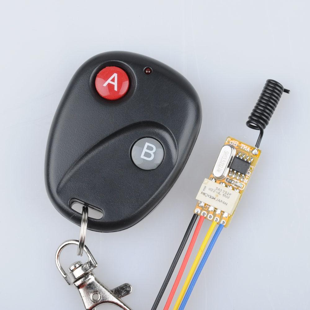 DC3V 3.7V 5V 6V 7V 9V 12V Mini Relay Wireless Switch Remote Control Power LED Lamp Controller Micro Receiver Transmitter System dc 3 5v 12v mini relay switch 2 receiver transmitter