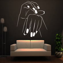 Creative nail salon Wall Sticker Self Adhesive Vinyl Waterproof Art Decal For Babys Rooms Stickers Wallpaper