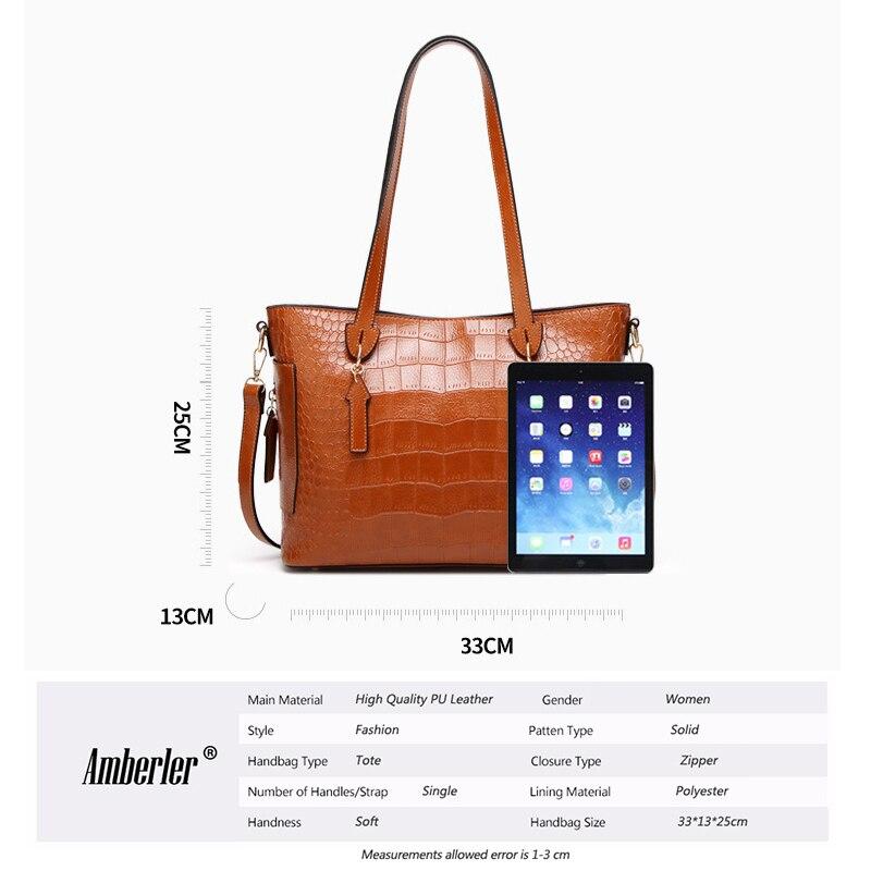 In brown Borsa Delle cachi Borse A Nero Tracolla Modo Amberler Bag Il grigio Per Con Designer Di Pezzi Nylon 2 Signore Le Donne rosso Set Famoso Tote S8FqXqxw