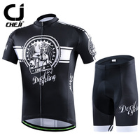 2016 CHEJI Men Bike Jerseys Bib Shorts Sets Pro MTB Team Cycling Clothing Suit Ropa Bicycle