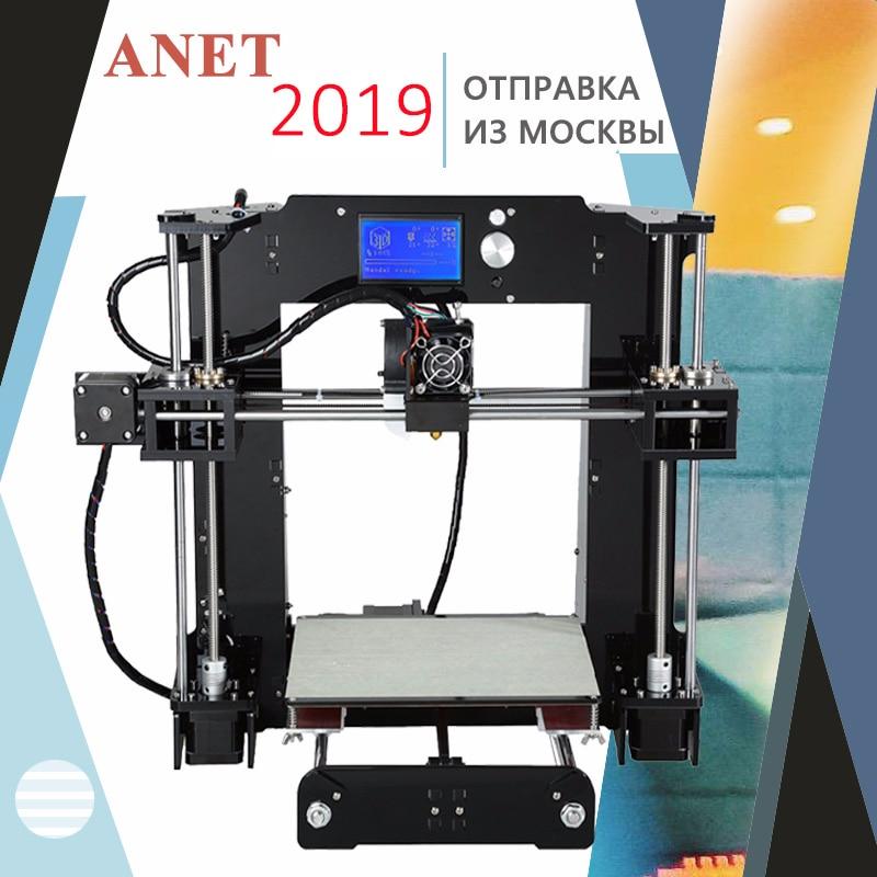 Anet A6 A8 3D Printer Kit Nieuwe Prusa I3 Reprap/Sd kaart Pla Plastic Als Geschenken/Extra Soplo nozzle Express Verzending Van Moskou