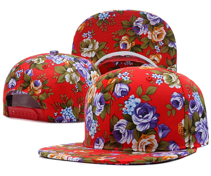 Flowers and patterned baseball cap Hat multicolor trend style ... 30c745c94269