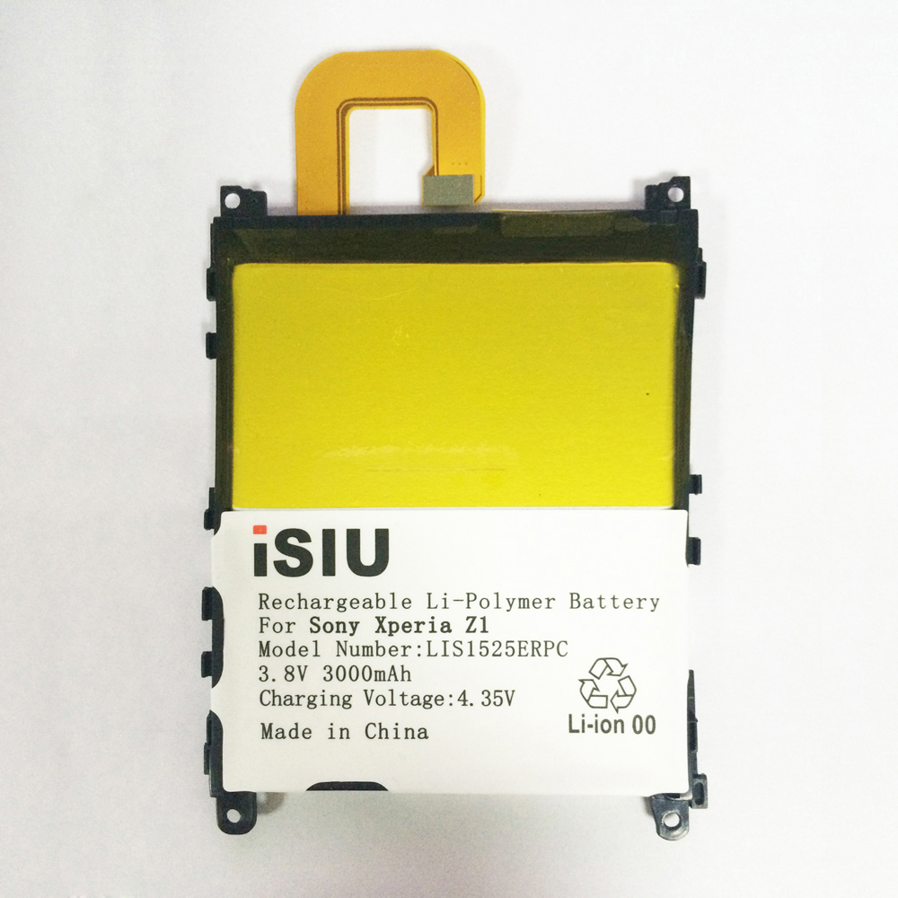 iSIU Battery For Sony Xperia Z1 LIS1525ERPC 3000mAh Bateria For SONY Xperia Z1 L39H L39T L39U L39 C6902 C6903 C6916 C6943