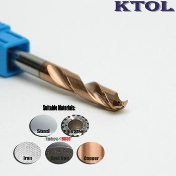 7.1-8mm Titanium Tungsten Steel Drill Bit for Metal Cutting 3D Twist Iron Drilling Tools Milling Cutter Set with 2 Coolant Holes