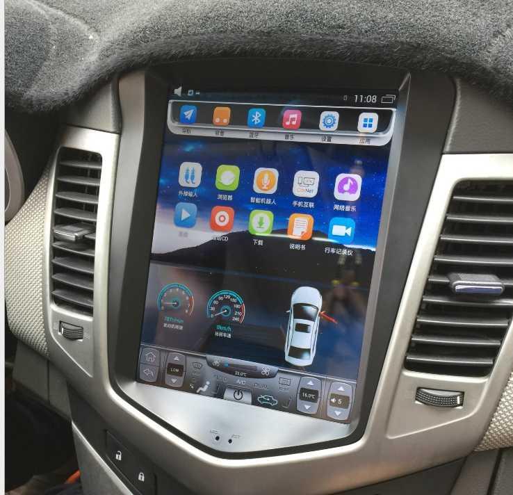 """LaiQi 10,4 """"четырехъядерный автомобильный dvd-плеер 1280x800 автомобильный вертикальный экран 32 Гб ПЗУ Стерео gps навигация для Chevrolet Cruze 2009-2014"""