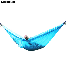 Camping Hammock Lightweight Nylon Portable Double for Backpacking, Camping, Travel, Beach, Yard
