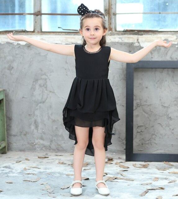 Europea niño niña ropa 2017 verano niños modernos princesa Vestidos ...