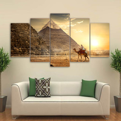 Canvas HD Prints Pictures Wall Art For Living Room Home Decor 5 Pieces Ancient Egypt Pyramid Paintings Pharaoh Poster Framework