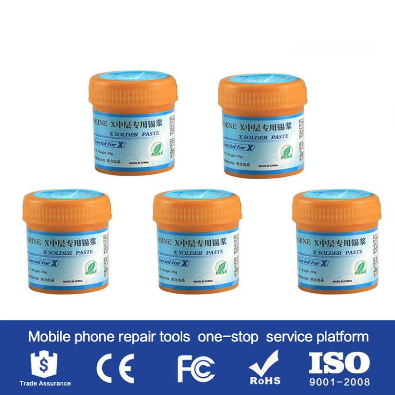 SP X middle layer special solder paste low temperature 158 degree for iPhone x xs xs