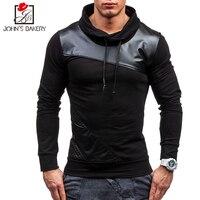 New Brand Sweatshirt Male 2017 Stitching Fashion Mens Hoodies Sweatshirt Slim Cotton Men Sweatshirts Thin Pullover