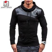 New Brand Sweatshirt Male 2017 Stitching Fashion Mens Hoodies Sweatshirt Slim Cotton Men Sweatshirts Thin Pullover Tracksuit XXL