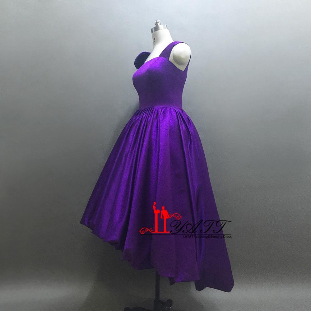vestido de noche Satin Evening Dresses 2017 Party Prom Dress Purple ...