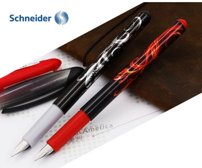 Schneider Opus 0.5mm cool Graphic design ink bag pp body Fountain Pens for Kids Student Writing Office Supplies Stationery