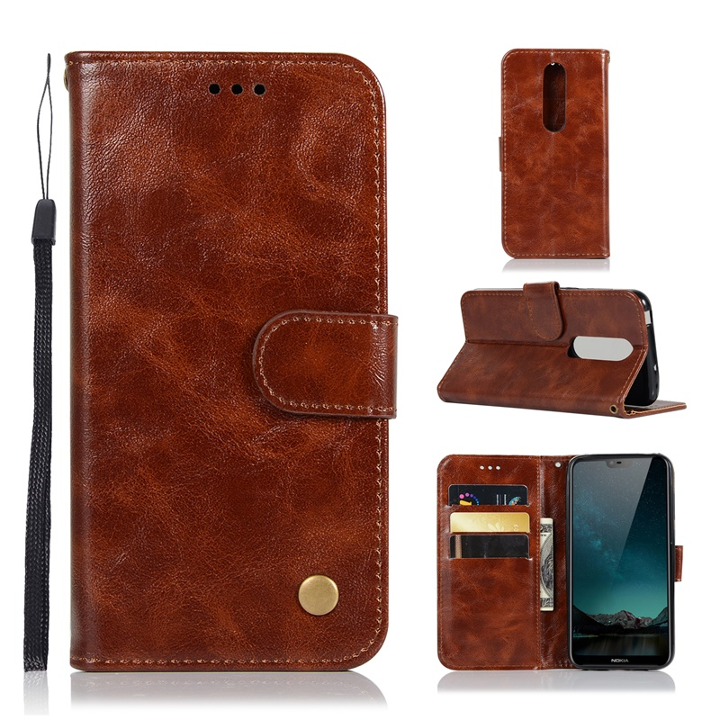 Luxury Wallet Magnetic <font><b>Flip</b></font> <font><b>Leather</b></font> <font><b>Case</b></font> For <font><b>Nokia</b></font> 1 2 3 5 6 2018 8 Sirocco Cover On <font><b>Nokia</b></font> 2.1 3.1 5.1 7.1 8.1 <font><b>6.1</b></font> 7 Plus X6 X7 image