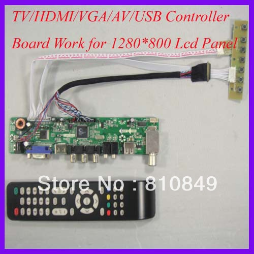 TV/HDMI/VGA/AV/USB/AUDIO LCD controller Board work for 1280x800 40Pin Lcd Panel high quality laptop motherboard for hp probook 4540s 4441s 712921 001 sr0n2 i3 3110m ddr3 100% fully tested