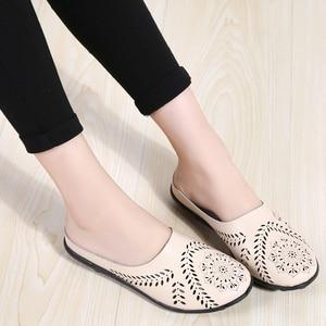Image 4 - STQ 2020 קיץ נעלי כפכפים נשים עצלן בלט שטוח סנדלי נעליים להחליק על נוח מגזרות סנדלי שקופיות Flip  צונח 9915