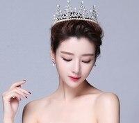 الكورية كعكة مع اللؤلؤ عيد الطفل تاج العروس الزواج الغزل الرأس الحلي مصنع الجملة المخبوزات