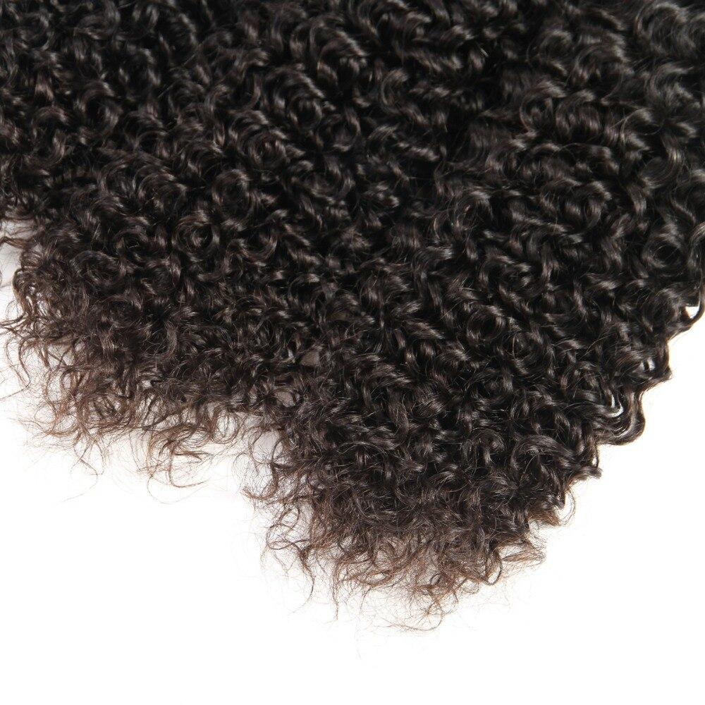 Brésilien Jerry Curl Cheveux Armure 3 pièces Faisceaux 100% Extensions de Cheveux humains Naturel Noir Couleur Naturel Sain Vierge Cheveux 100 g/pc - 4