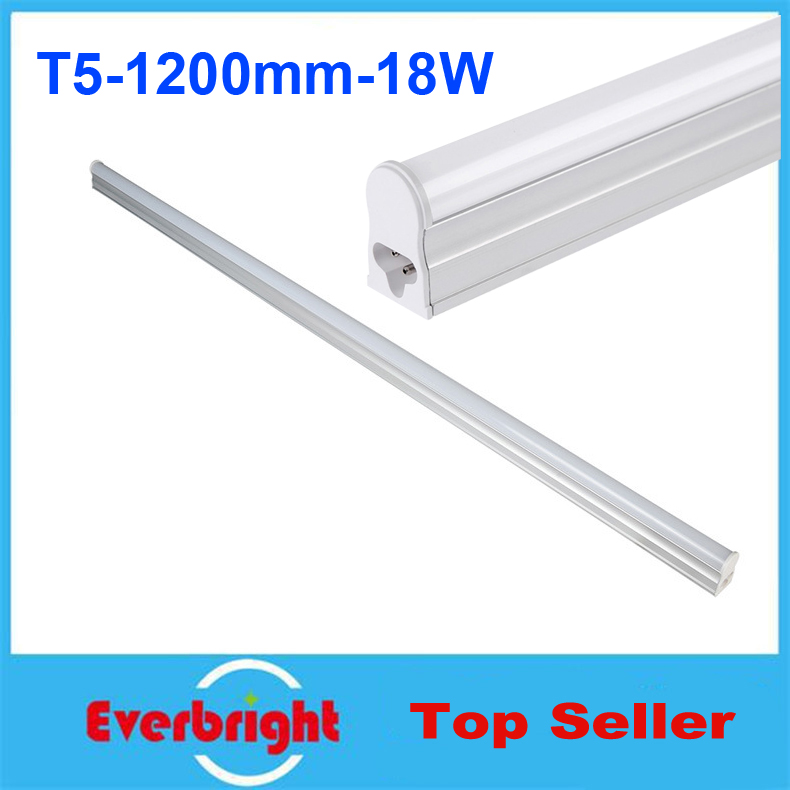 35 pcs/lot <font><b>T5</b></font> <font><b>Led</b></font> Tube Light 1200mm <font><b>18W</b></font> 96Led/pcs SMD 2835 <font><b>Led</b></font> Bulbs Tube Fluorescent Tubetes AC 85-265V Warm White/Cool White image